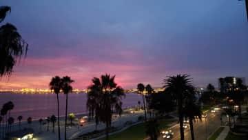 Sunset ocean views are inspiring.