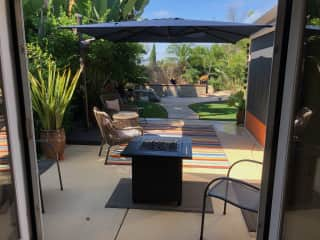 Patio from guest BR