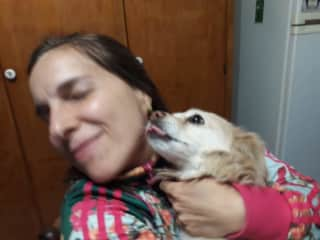 She is Niña. It was our neighbor's pet, an old woman who died almost two years ago. When Niña was left alone, we decided to bring her to our house. Now she is the owner of the house and our love