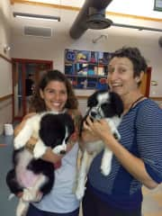 Teaching at my Pilates with Puppies class!