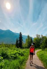 Hiking in my home town of Anchorage, Alaska.