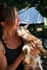Taking care of my friend's goats