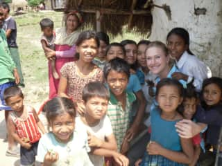 In Nepal on a volunteer public health research trip. Children were incredible!