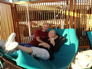Jim, my husband, and me (Cathy)