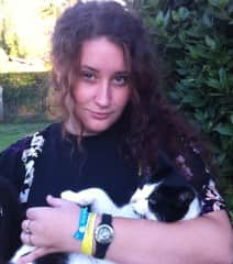 my daughter chloe with sooty