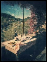 Eating out on our Terrace