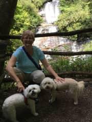 Kathy with Kaylie and Sadie in Brevard, NC