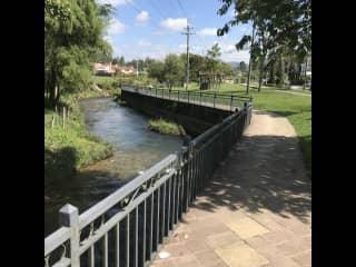 2 blocks from the river walk trail!