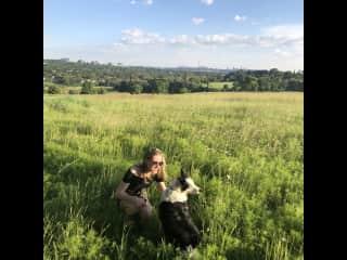 Katrina and her dog Rosie