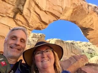 Ken and Laureen hiking in Utah