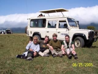 Safari in the Serengeti;  I am second from left.