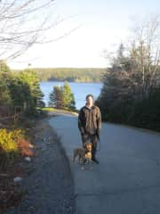 Matt and Willow in Nova Scotia