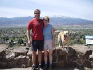 Jim and Jeanne in our beautiful city of Colorado Springs!