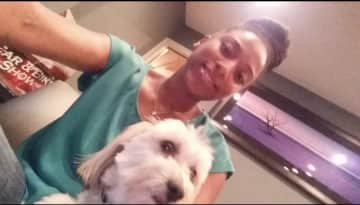 This is me and our dog Cross