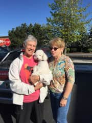"""Saying goodbye to Ritzi, one of our favorite """"clients,"""" and an all round perfect gentleman!"""