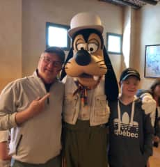 Disney with grandkids.