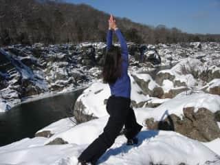 Yoga on the edge of the Potomac