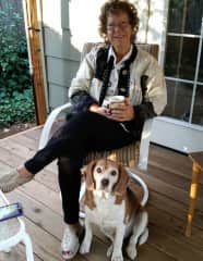Me with my beagle, Sir Bandit