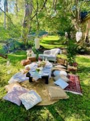 Front garden (picnic time!)
