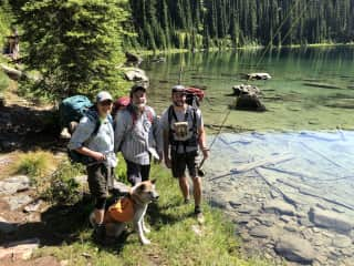 Backpacking in Idaho with our son