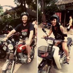 Nathaniel and I love to motorbike, especially around Vietnam.