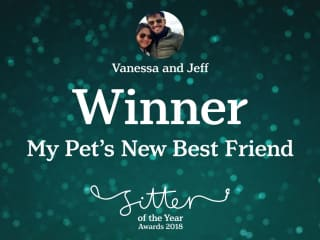 Winners of the TrustedHousesitters 2018 Sitter of the Year Awards: My Pet's New Best Friend Category (https://www.trustedhousesitters.com/blog/news/announcing-the-sitter-of-the-year-award-winners-2018/)