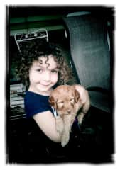 Maya with a very little Rudy...