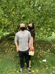 Casey and Liz Apple Picking