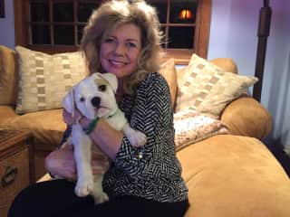 Diane and her bully puppy!