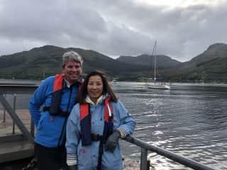 Michael / Annie sailing in Scotland