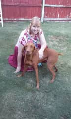 Me with my sister's dog.