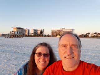 My husband and I on Lido Key....we love coming here.