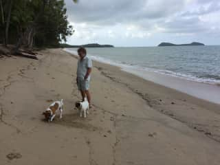 Time at home on our beach with Finn and Hallie a neighbours dogs