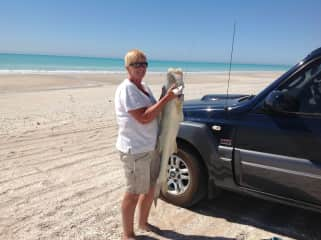 Fish caught at our favourite - 80 Mile Beach Western Australia