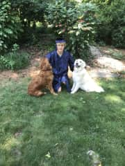 My son and Baloo and Bailey