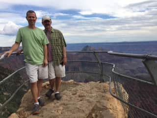 Peter (l) and Neal (r) at the North Rim of the Grand Canyon