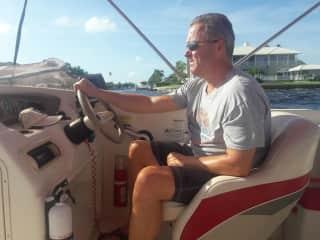 Steve cruising around Charlotte Harbour, Florida