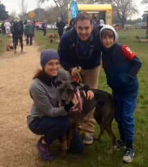 Brooke, David and Noah with Minnie (the rescue)