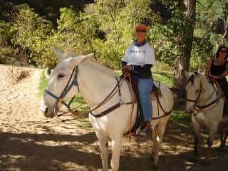 Linda exploring Zion National Park