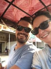 Tuk tuk travel in Siem Reap