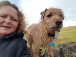 Ted and I exploring the surrounds of Kingussie in the Highlands of Scotland