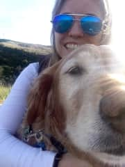 Joey and I hiking