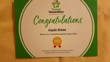 What a lovely surprise to receive this from Trusted Housesitters!