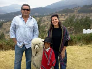 Our Ecuador Trip...enjoying the locals with our little tour guide