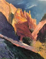 "Acrylic painting- ""NM Tent Rocks"""