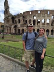 Alex and I enjoying Rome!