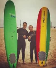 Surfing In Venice Beach
