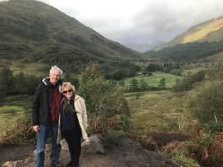 My husband and I in Scotland.