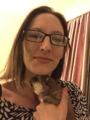 Me and Shiba pup, Marley
