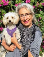 Me and Fred, my 7-year-old Malti-Poo rescue dog.